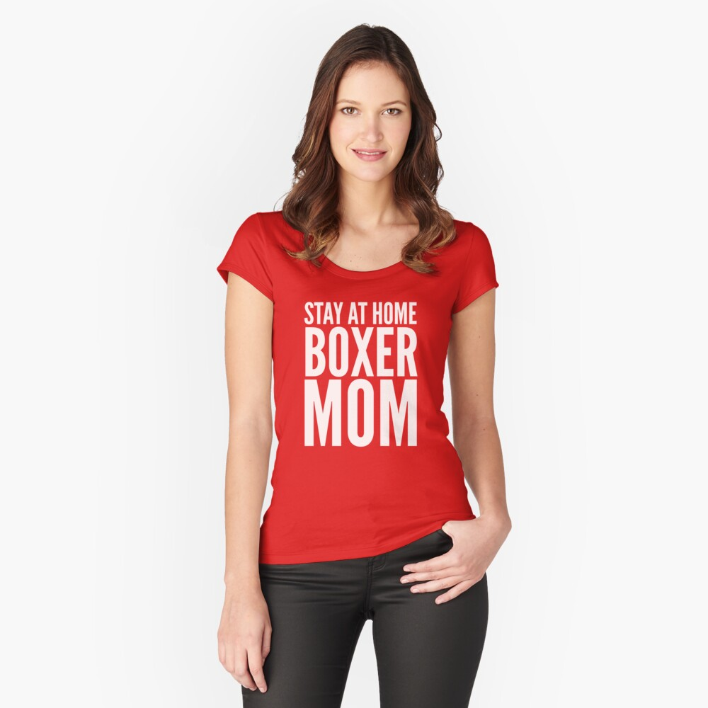Boxer Mom Women's Fitted Scoop T-Shirt Front