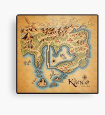 Kanto Map Metal Print