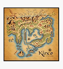 Kanto Map Photographic Print