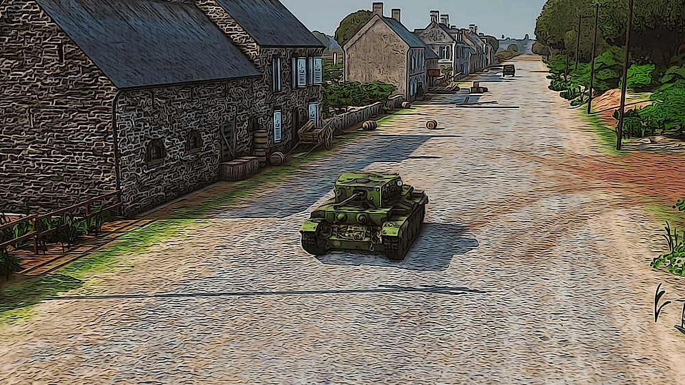 Cromwell Tank MKV in Normandy by Andrea Mazzocchetti