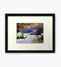Home in the Country Framed Print