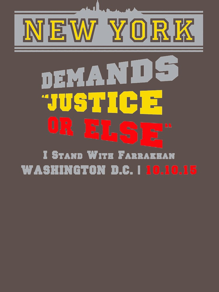 New York Demands Justice Or Else DC102 Best Trending by Diniansia