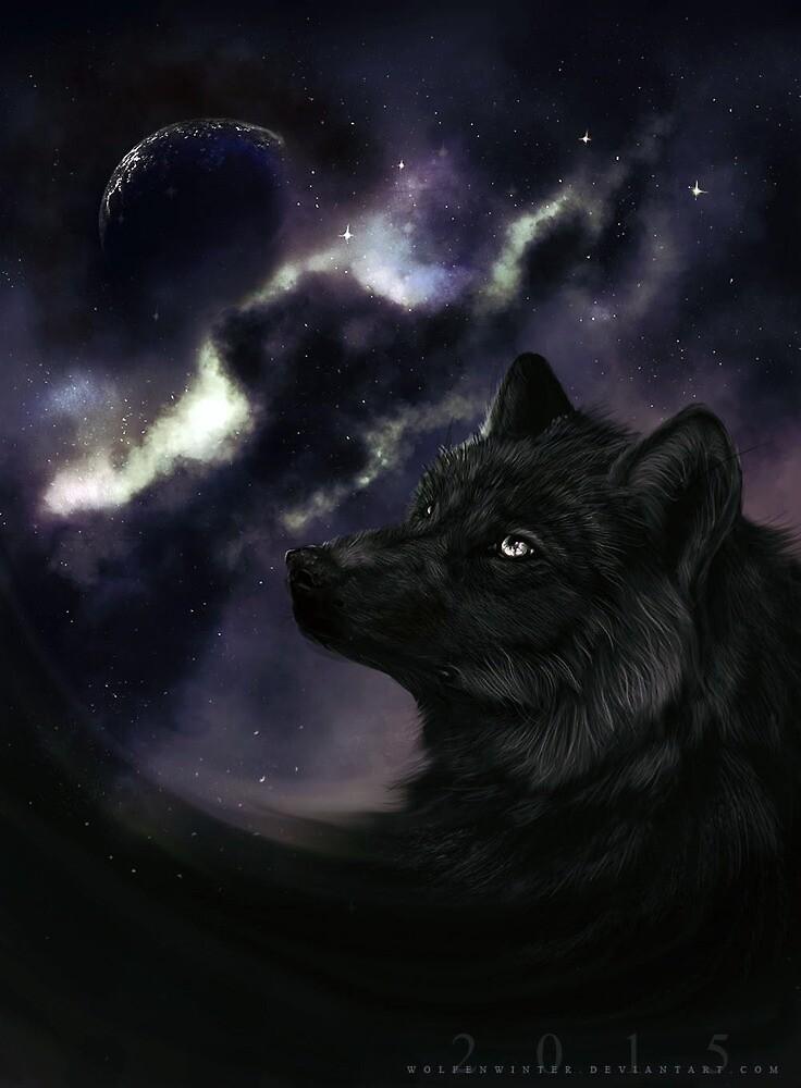 A starry Night by wolfenwinter
