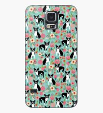 Boston Terrier floral dog breed pet art must have boston terriers gifts  Case/Skin for Samsung Galaxy
