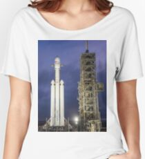 Spacex Falcon Heavy at Night - 60 MegaPixel image Women's Relaxed Fit T-Shirt