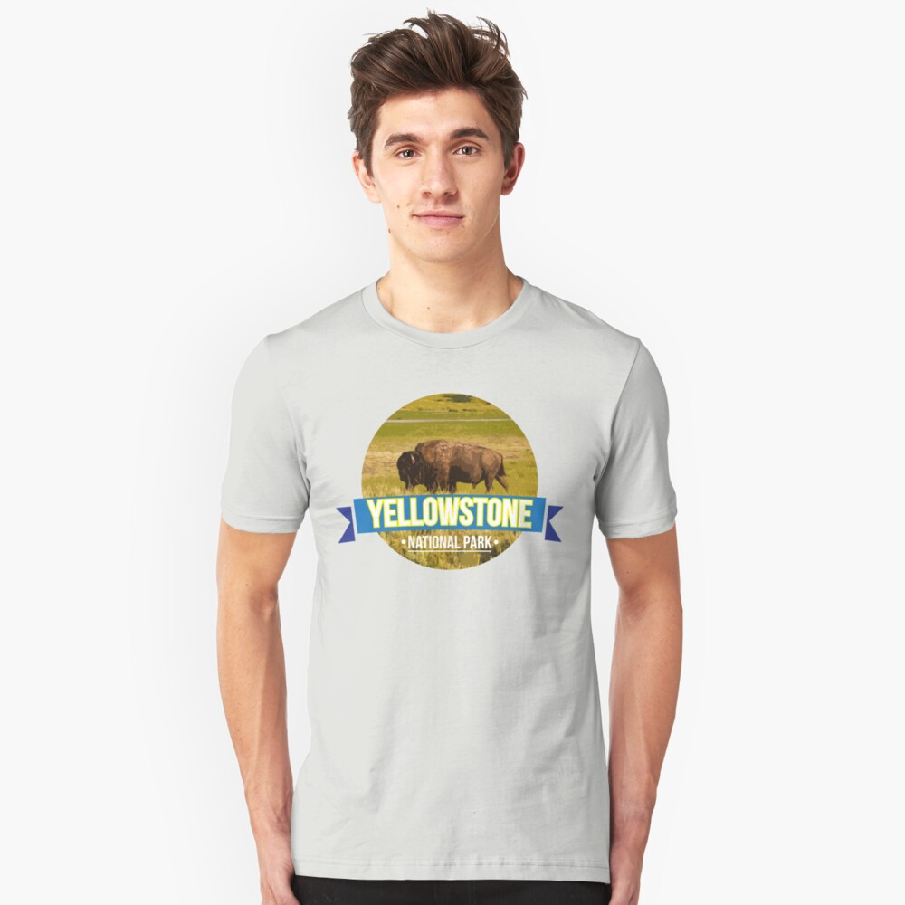Yellowstone national park 02 Unisex T-Shirt Front