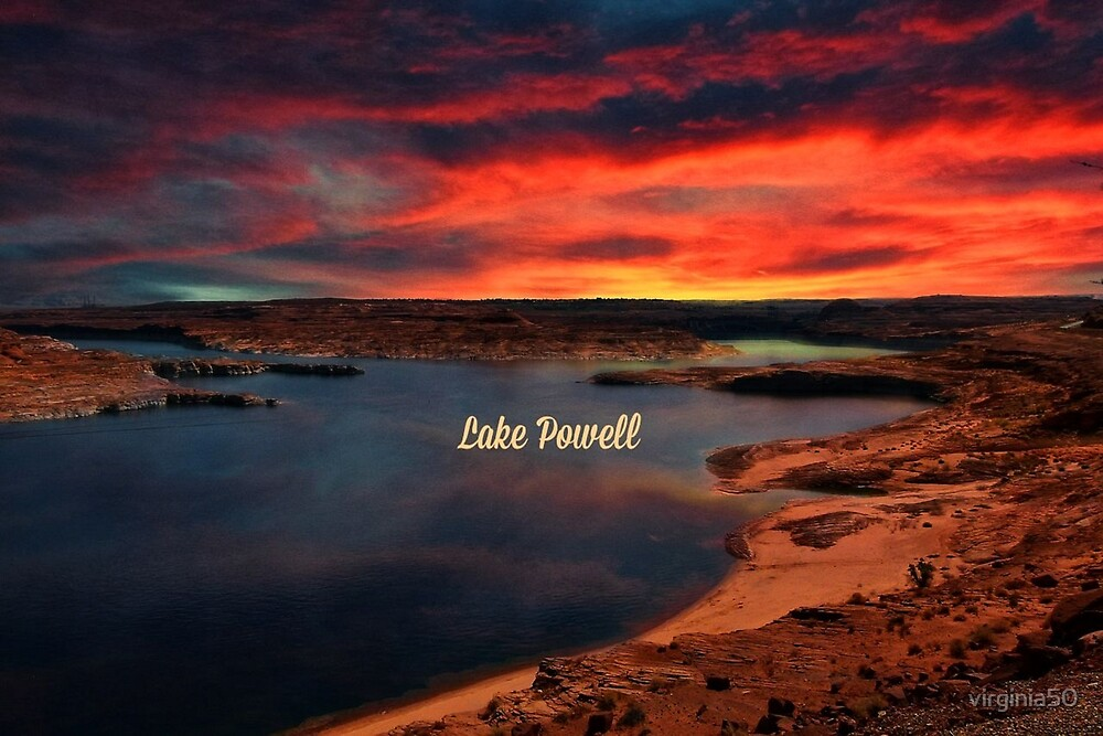 Lake Powell Sunset by virginia50
