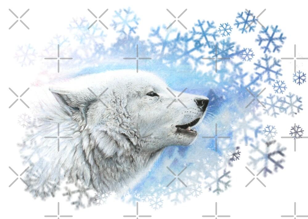 white wolf - snowflake cut by Schiraki