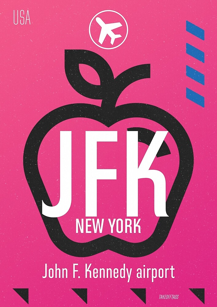 JFK New York airport code by Airport Style Stickers