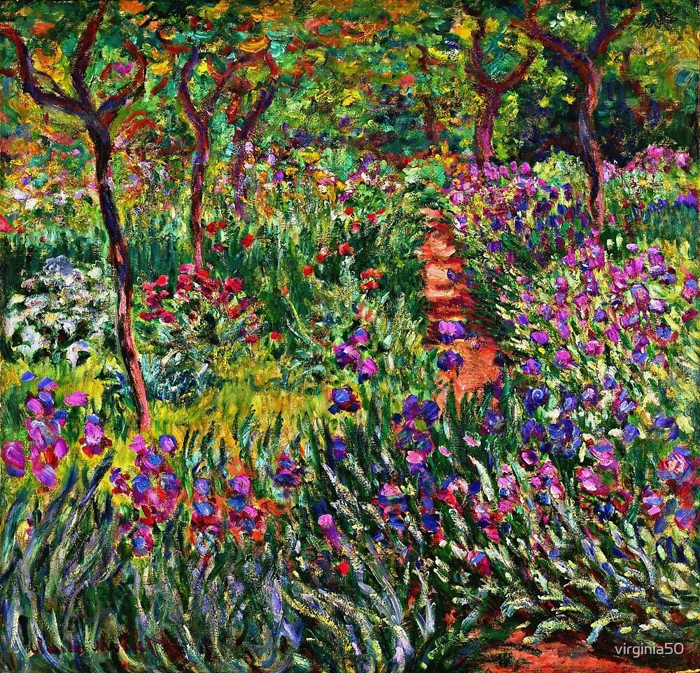 Monet - The Iris Garden at Giverny by virginia50