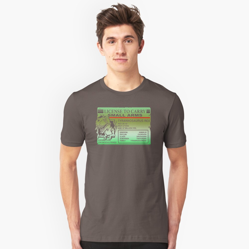 License To Carry Small Arms T Rex PK155 Best Trending Unisex T-Shirt Front