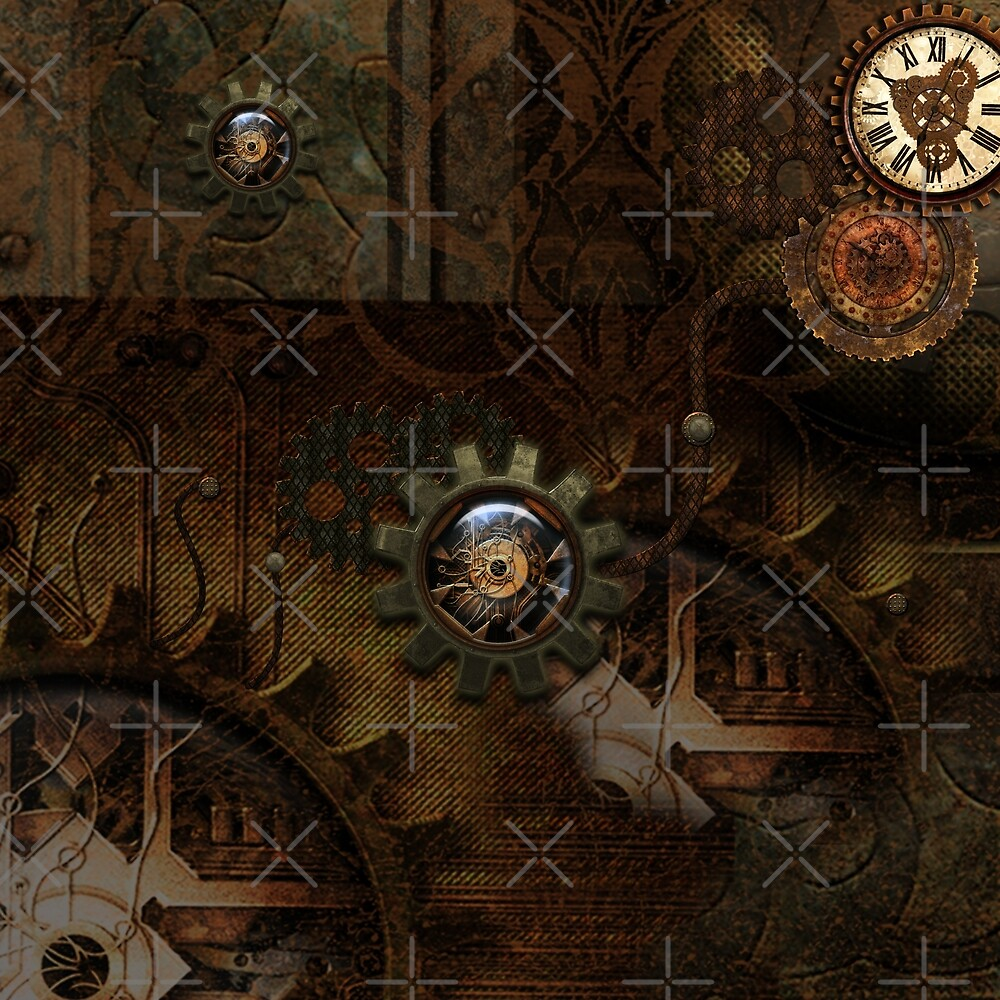 Noble steampunk design, clocks and gears by nicky2342