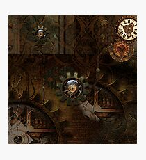 Noble steampunk design, clocks and gears Photographic Print