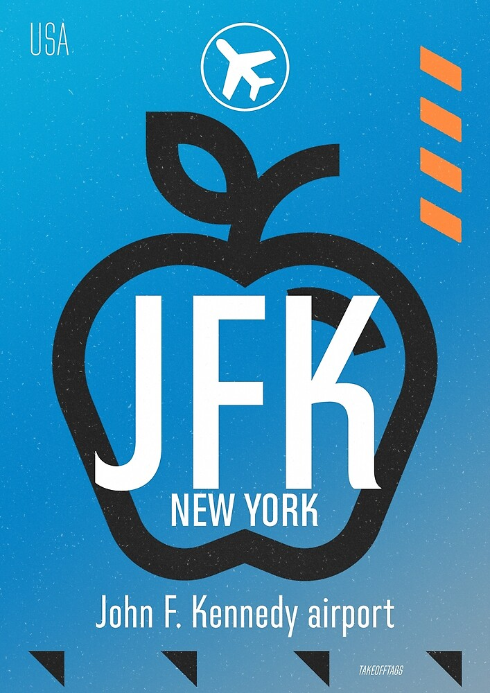 JFK Blue sky  by Airport id Stickers