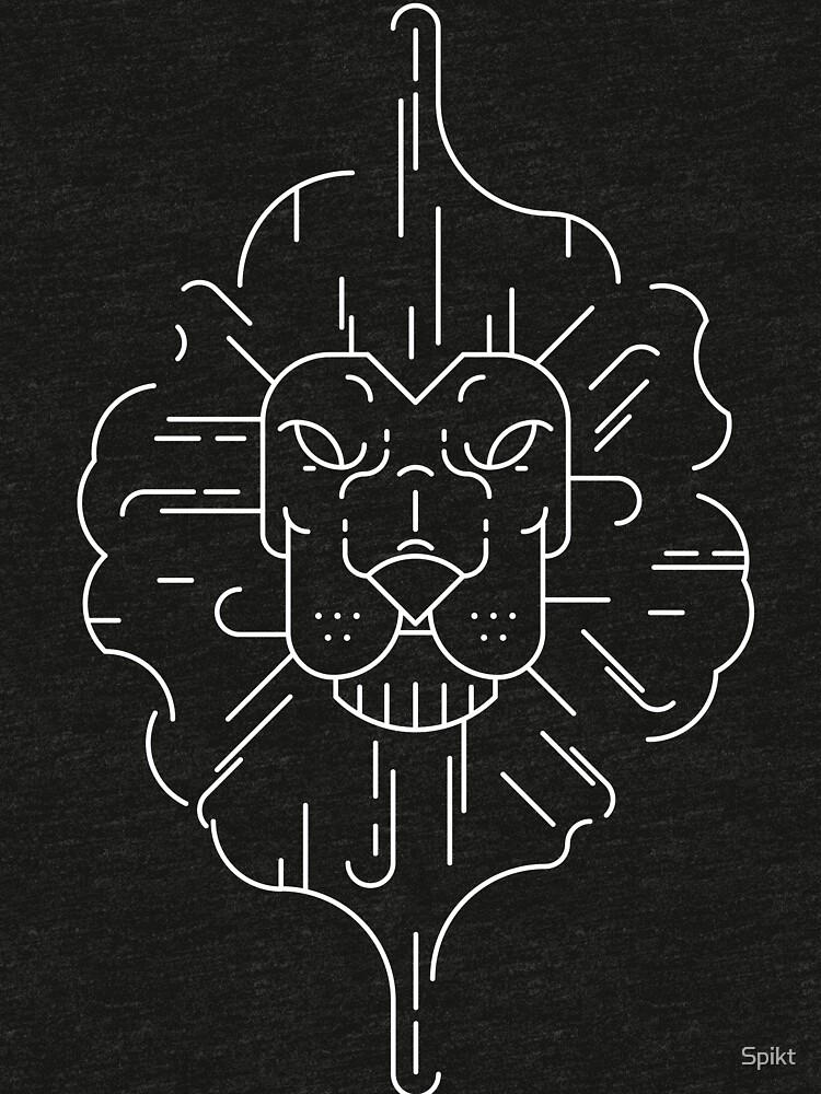 Lion Lineart by Spikt