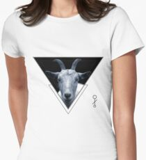 Triangle Goat Sigil Women's Fitted T-Shirt