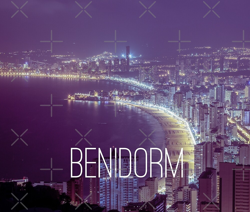 Benidorm at Night by Jack Leeson