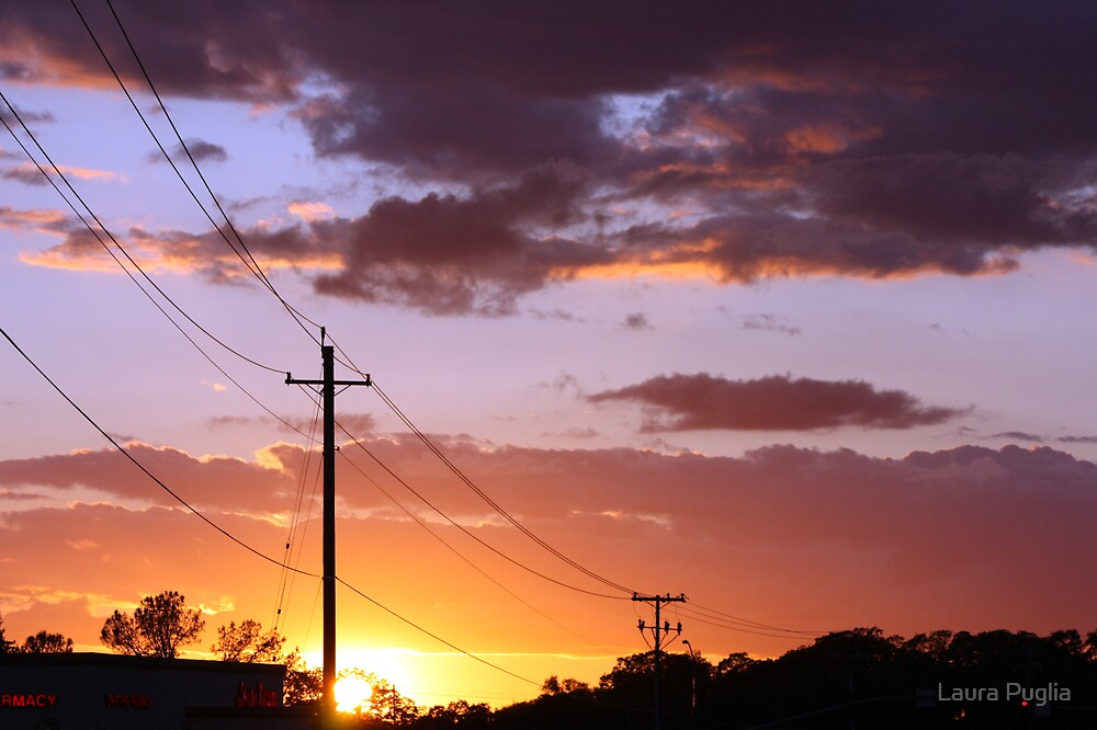 Powerlines & Sunsets by Laura Puglia