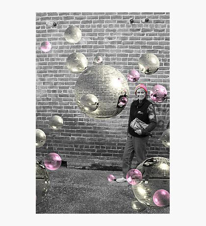 Mom and Bubbles Photographic Print