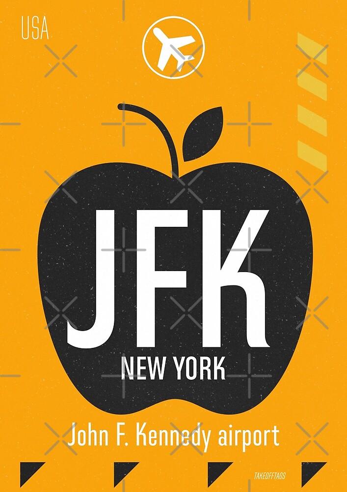 JFK orange design by Airport id Stickers