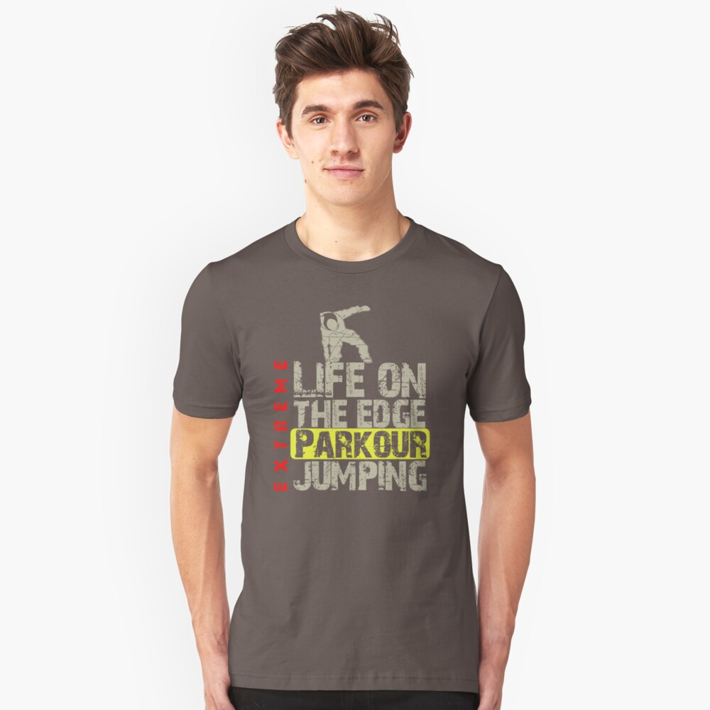 Life On The Edge Parkour Jumping VO761 Trending Unisex T-Shirt Front