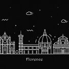Florence Skyline Minimal Line Art Poster by A Deniz Akerman