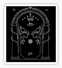 Lord of the Rings - Gates of Moria Ithilden Door Sticker