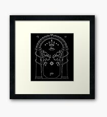 Lord of the Rings - Gates of Moria Ithilden Door Framed Print