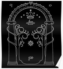 Lord of the Rings - Gates of Moria Ithilden Door Poster