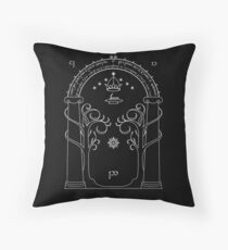 Lord of the Rings - Gates of Moria Ithilden Door Throw Pillow