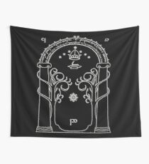 Lord of the Rings - Gates of Moria Ithilden Door Wall Tapestry