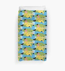 Trouble in the garden of transparent beings Duvet Cover