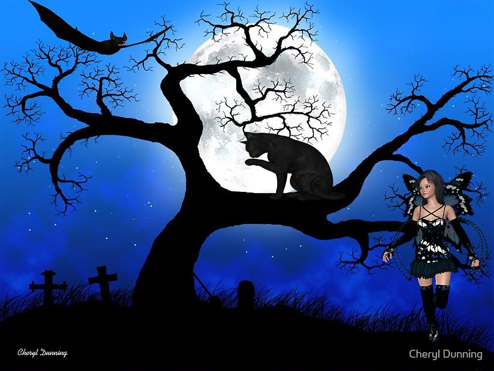black cat by Cheryl Dunning