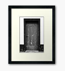 Old door Framed Print