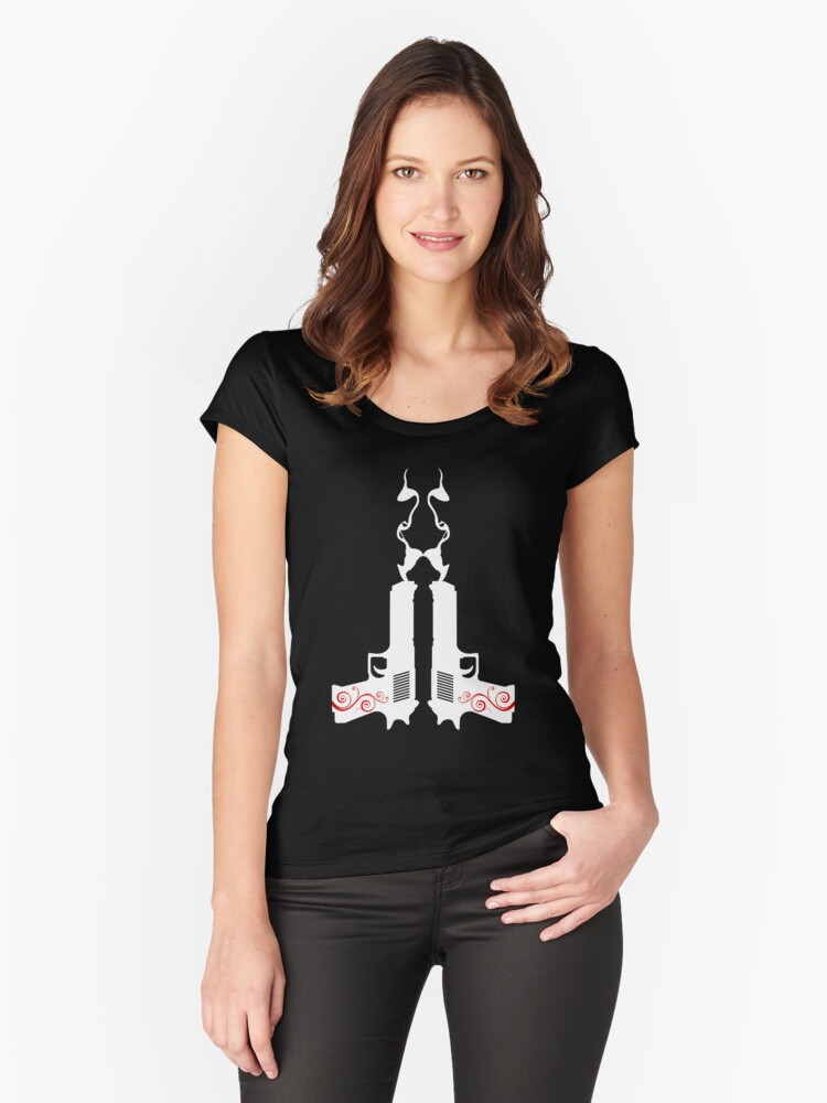Smooking Guns Women's Fitted Scoop T-Shirt Front