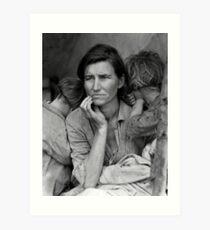Migrant Mother, taken by Dorothea Lange in 1936 Art Print
