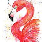 Flamingo - Think Pink by Lisa Whitehouse