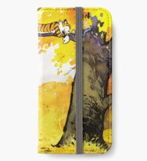 Calvin and Hobbes - Fall Break iPhone Wallet/Case/Skin