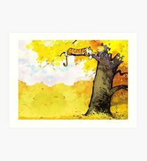 Calvin and Hobbes - Fall Break Art Print