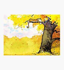 Calvin and Hobbes - Fall Break Photographic Print