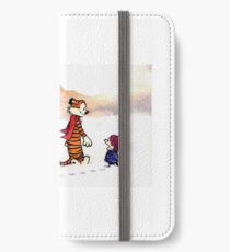 Calvin and Hobbes - Snow Tracks iPhone Wallet/Case/Skin
