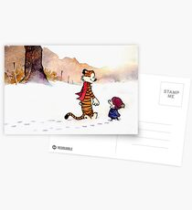 Calvin and Hobbes - Snow Tracks Postcards