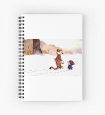 Calvin and Hobbes - Snow Tracks Spiral Notebook