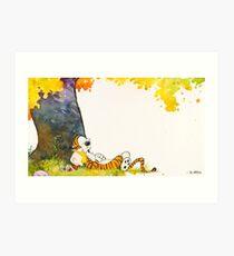 Calvin and Summer - Summer Vacation Art Print