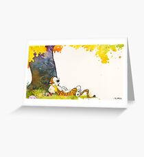 Calvin and Summer - Summer Vacation Greeting Card