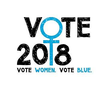 Vote Women Vote Blue 2018 by loeye