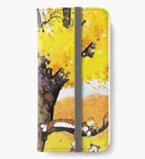 Calvin and Hobbes - Outdoor Compilation iPhone Wallet/Case/Skin