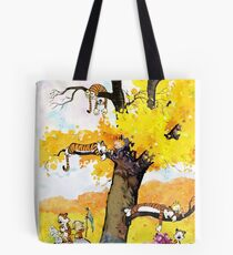 Calvin and Hobbes - Outdoor Compilation Tote Bag