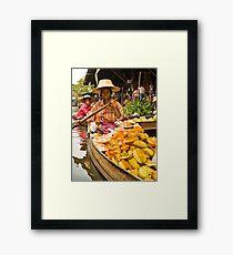 Fruit Boat at Floating Market Framed Print