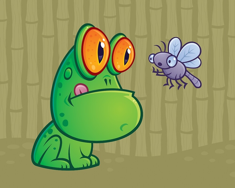 Frog and Dragonfly by fizzgig